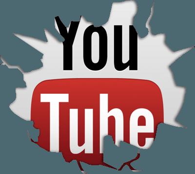 Cracked YouTube Logo.