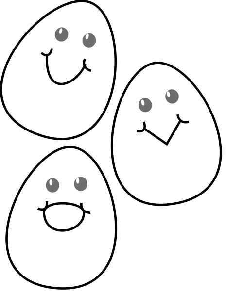 Cracked open easter egg free clipart.