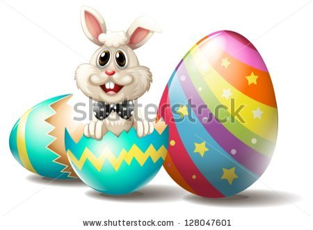 Cracked Easter Egg Stock Images, Royalty.
