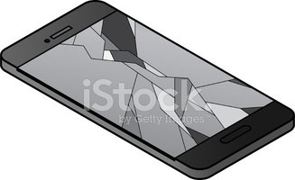 Cracked Phone stock vectors.