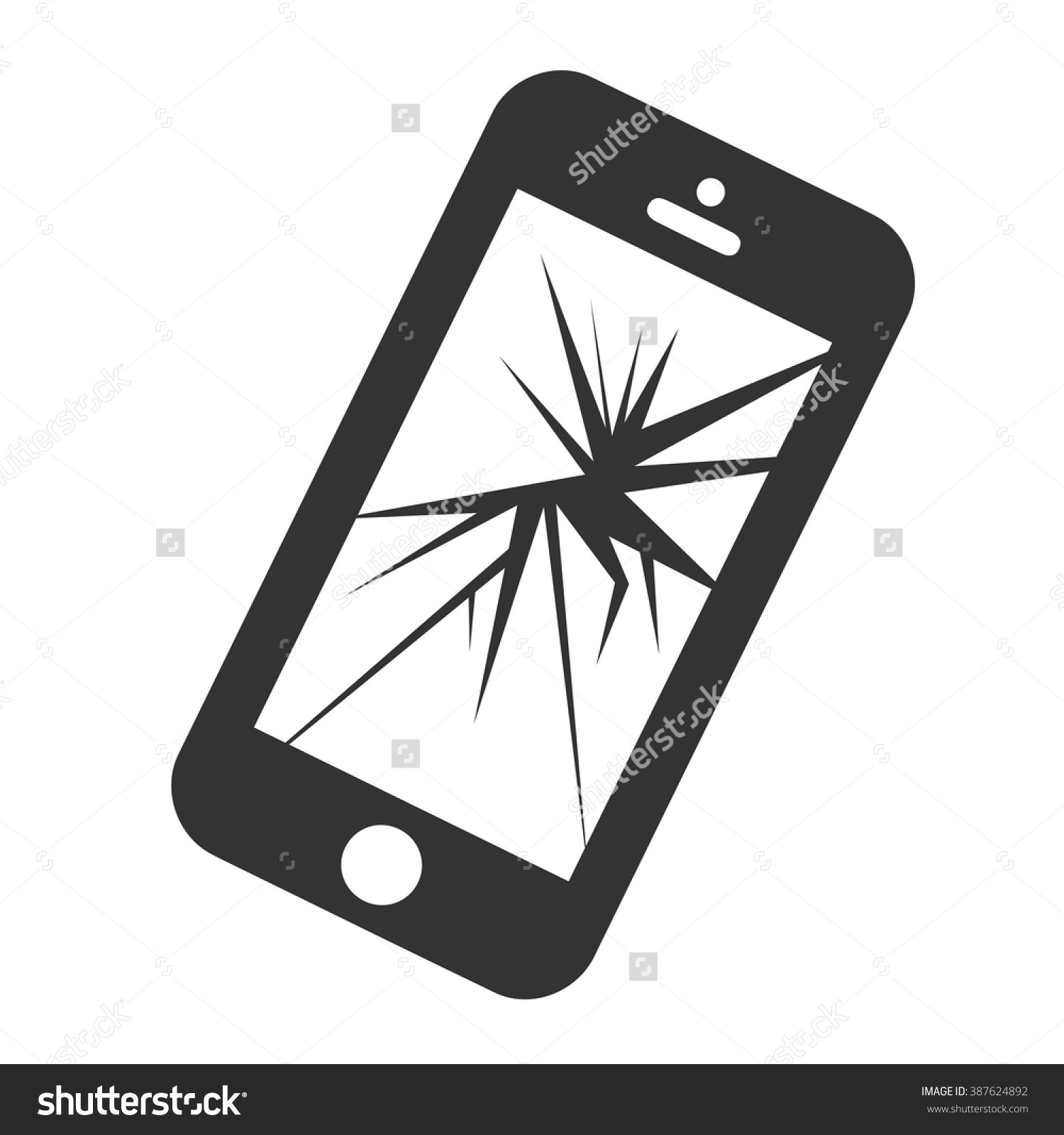 Cracked Iphone Clipart.