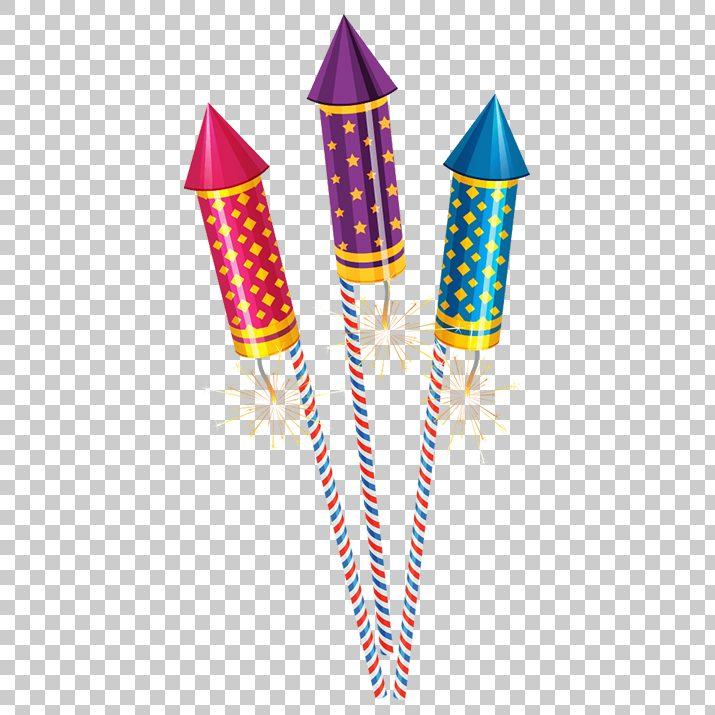Diwali Fireworks and Crackers PNG Transparent Image Free Download.