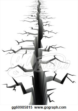 Crack in the ground clipart.