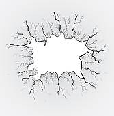 Clip Art of broken glass table, cracks, illustration k12229062.