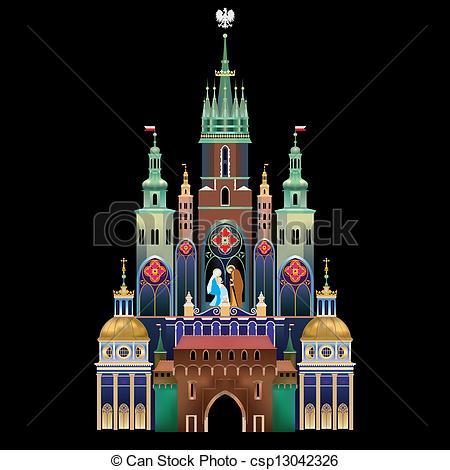 Vector Illustration of Krakow Nativity Scene.