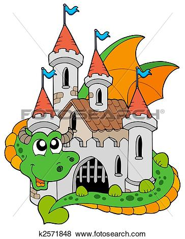 Clipart of Old Castle k15179614.