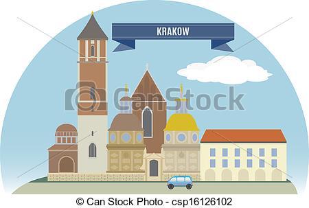 Vector Clipart of Krakow, Poland. For you design csp16126102.