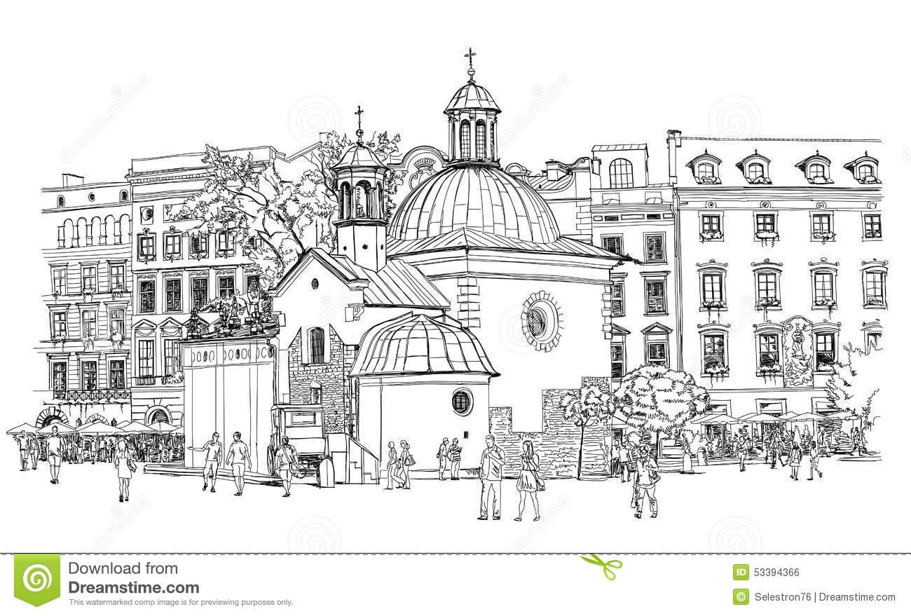 Krakow Stock Illustrations.