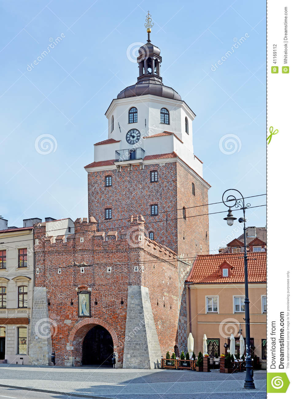 Cracow Gate In Lublin, Poland Stock Photo.