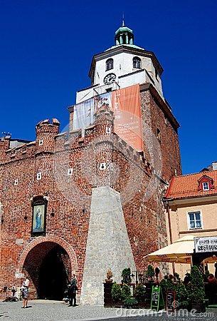 Lublin Gate In Deblin Fortress (Iwangorod). Poland Stock Photo.