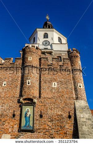 Cracow Gate Stock Photos, Royalty.