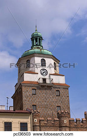 Stock Photo of Krakowska Gate To Old Town, Lublin, Poland pcl36503.