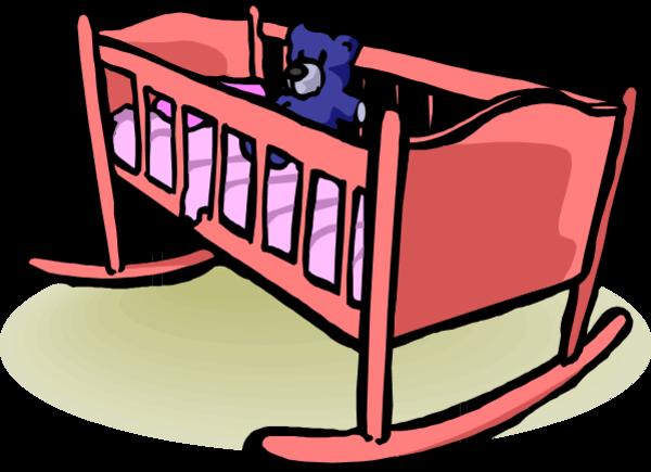 Baby Cradle Clipart.