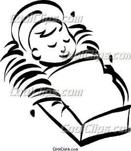 newborn in a cradle Clip Art.