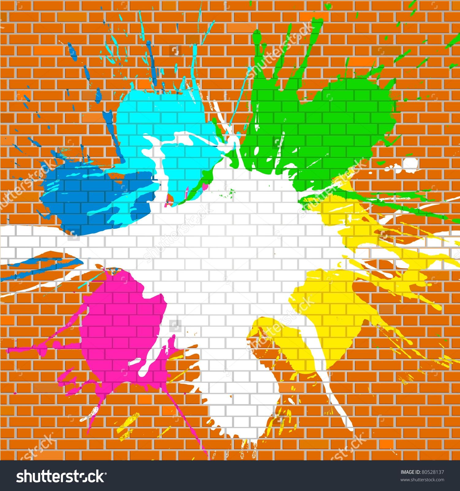 Graffiti Clip Art On Walls.