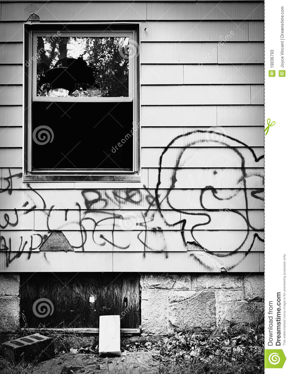 Graffiti home clipart.