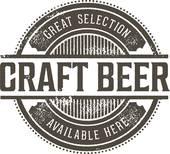 Vintage Craft Beer Stamp Clipart.