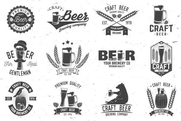 Best Craft Beer Illustrations, Royalty.