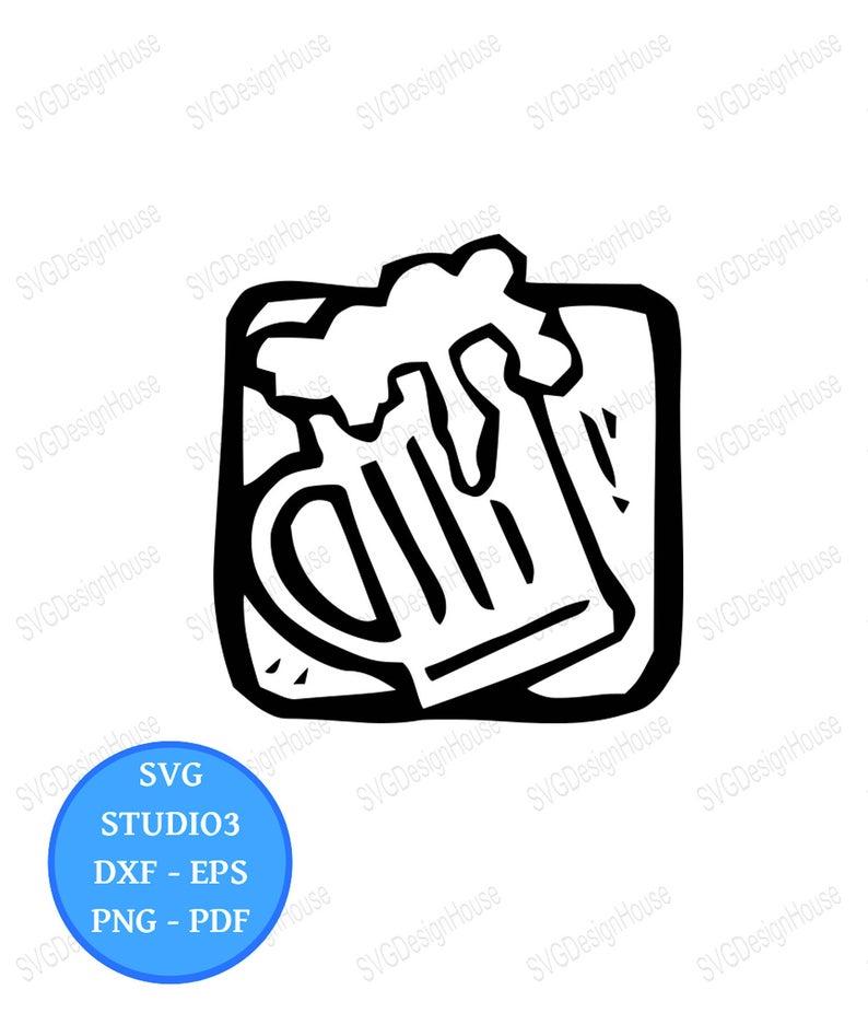 Craft Beer SVG, Clipart, Beer Mug, Tankard, Png, Eps, Pdf, cricut, Studio3,  Cricut, Silhouette.