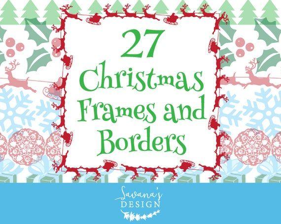 Christmas border clipart.