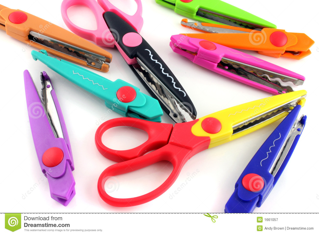 Craft Scissors Royalty Free Stock Image.