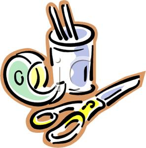 Tape And Scissors Clipart.