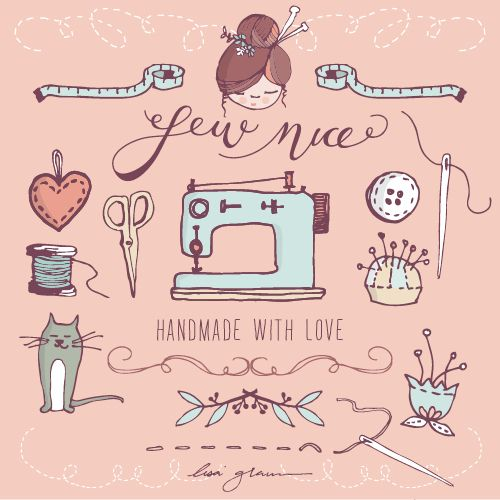 Lovely and FREE clip art graphics. Cute craft clip art with sewing.