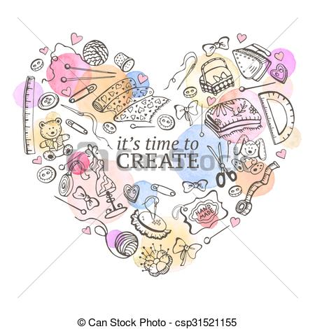 Clipart Vector of Crafting poster.