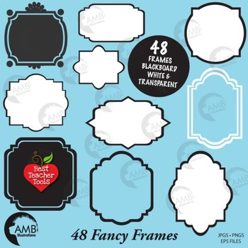 Frames Clipart, Labels Clipart, Tags Clip Art, {Best Teacher Tools} AMB.