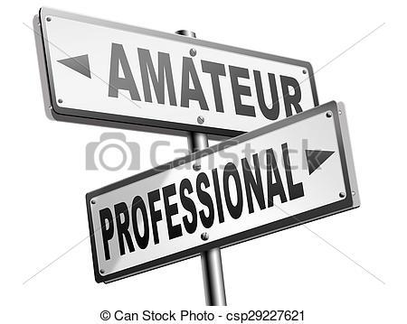 Clip Art of professional or amateur.