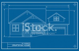 Craftsman Style Blueprint stock vectors.