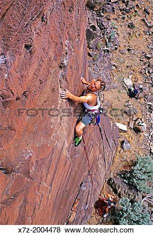 Pictures of rock climbing a route called Hypocrisy which is rated.