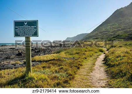 "Stock Photo of Salt River Coastal Route hiking trail ""mini Otter."