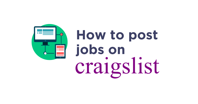 How to post jobs on Craigslist.
