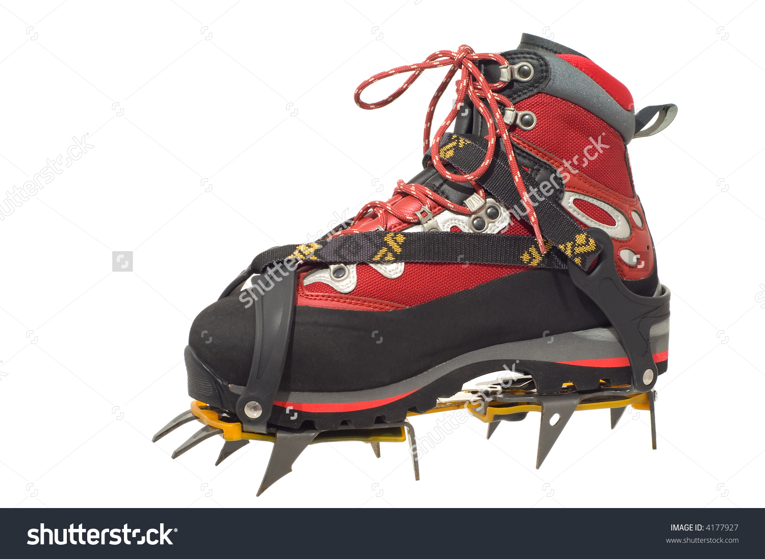 Trekking Boot With Crampon Stock Photo 4177927 : Shutterstock.