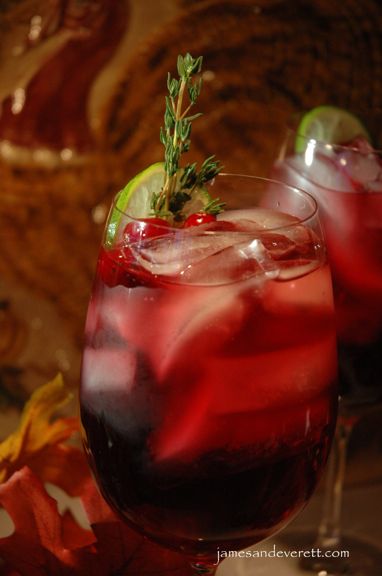 Thanksgiving Cocktails: Cranberry Gobbler.