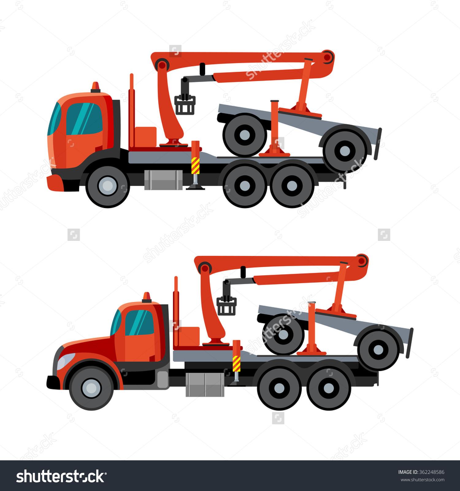 Hydraulic Truck Crane Clip Art.