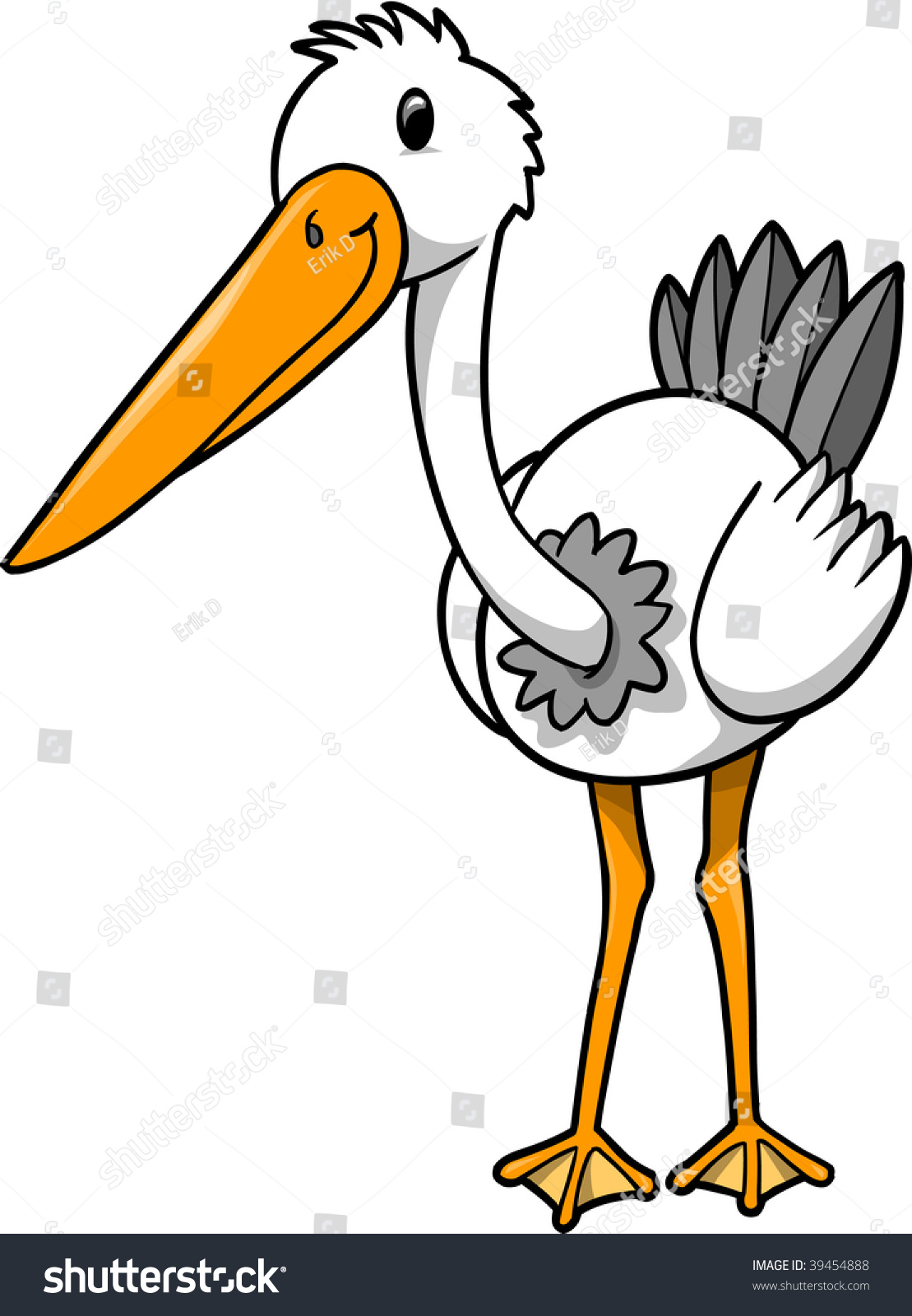 Crane Bird Drawing.