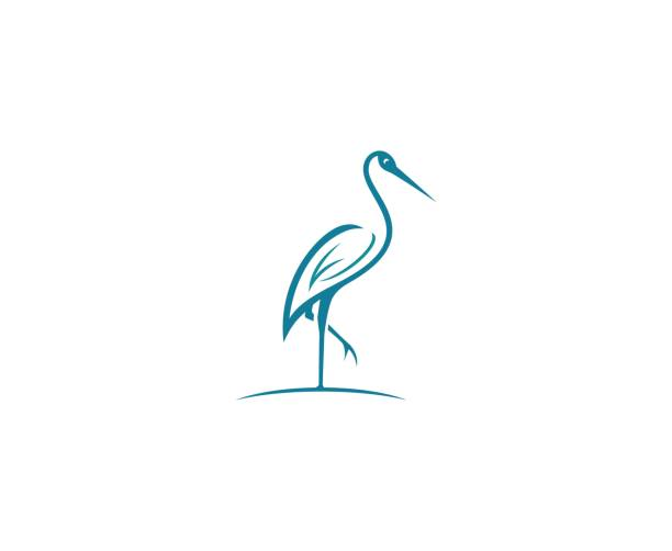 Best Crane Bird Illustrations, Royalty.