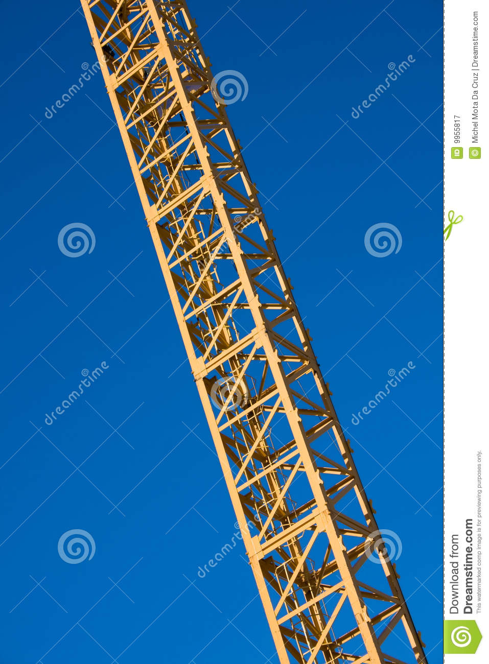 Latticed Crane Boom Royalty Free Stock Photography.