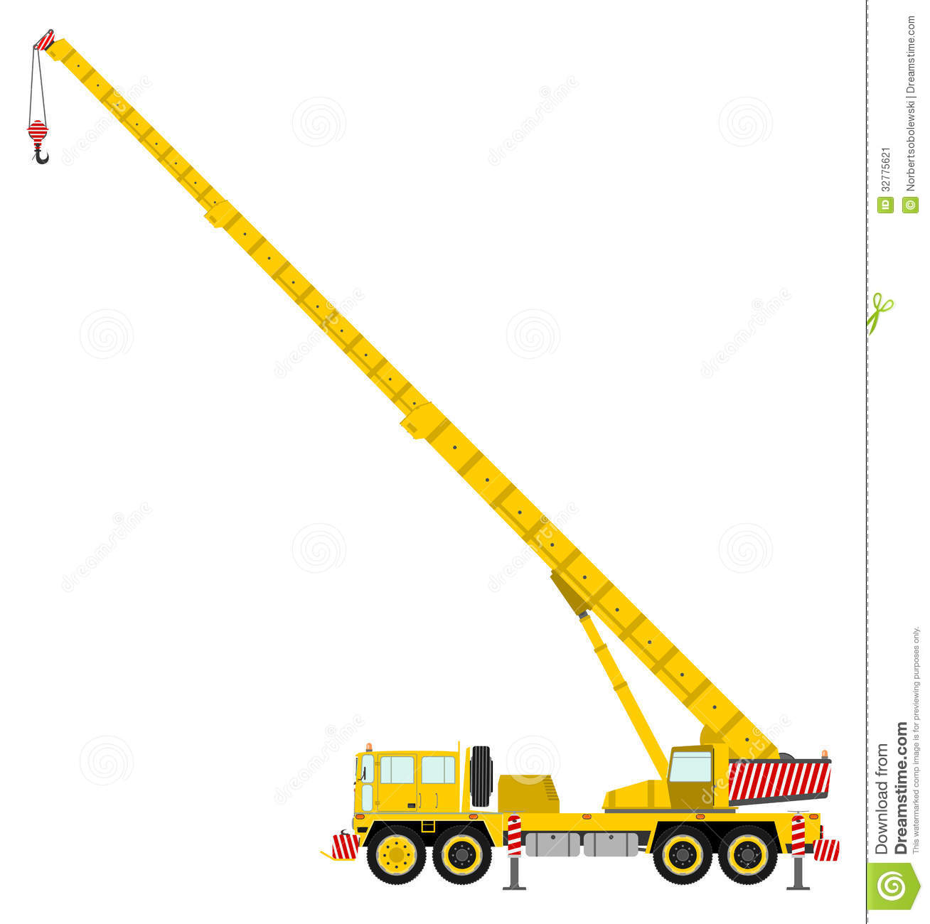Crane Boom Truck Clip Art.