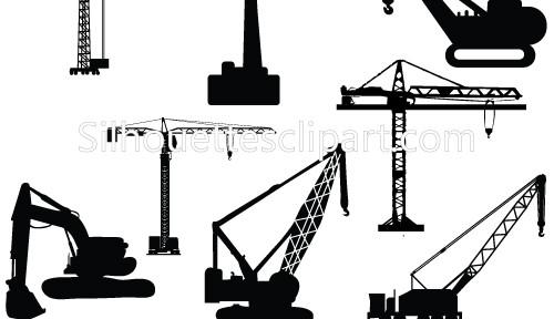 Crane Silhouette Clipart.