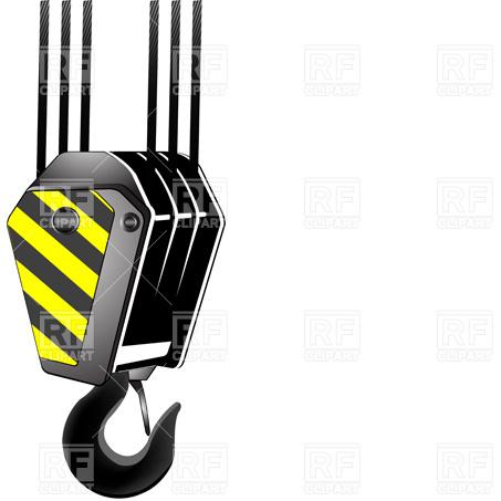 Crane hook Stock Vector Image.