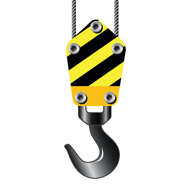 Clipart Of Crane Hook With Room For Text K #81850.