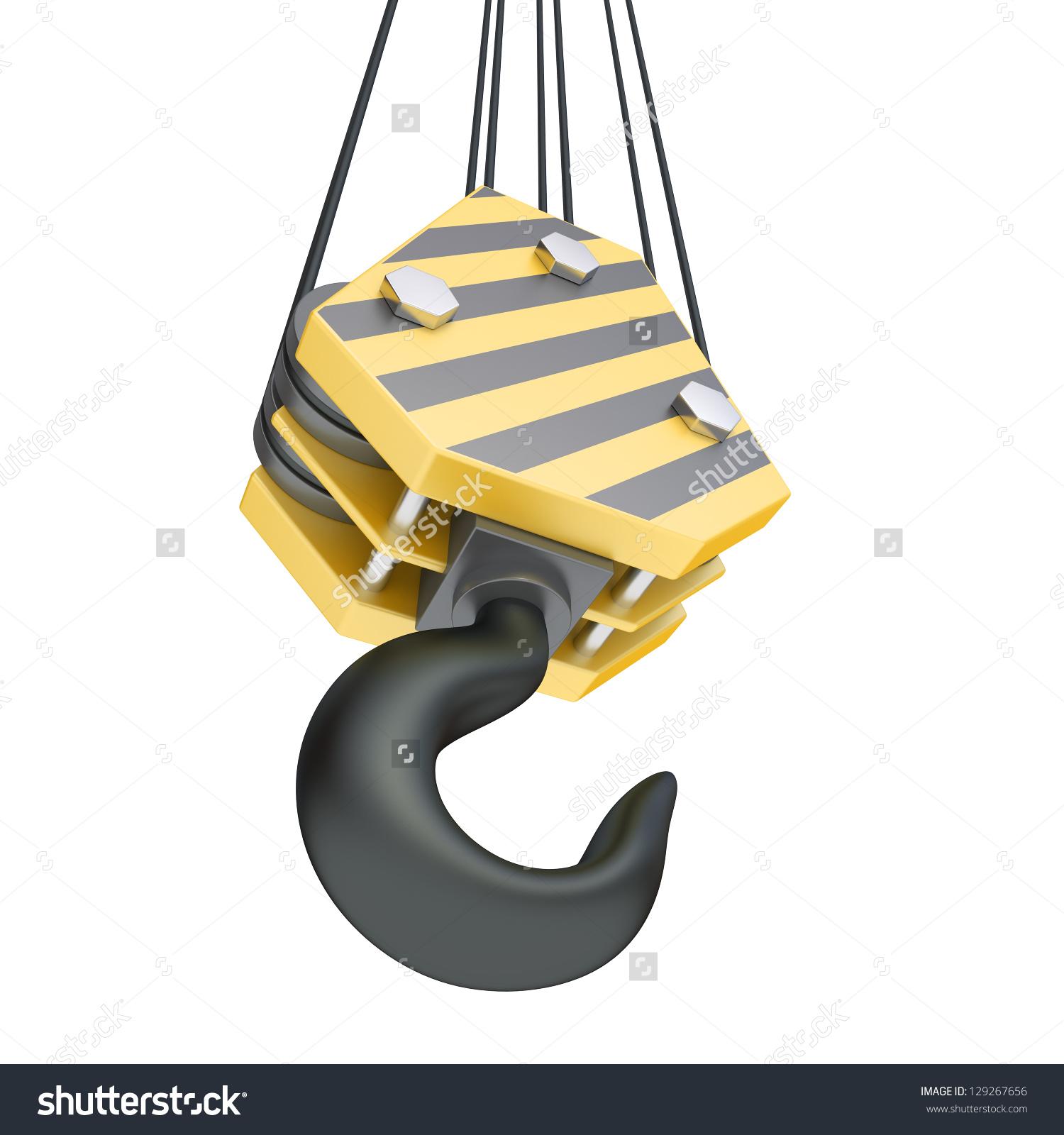 Crane Hook On White Background Stock Illustration 129267656.