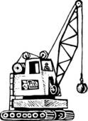 Clipart of Crane crane.
