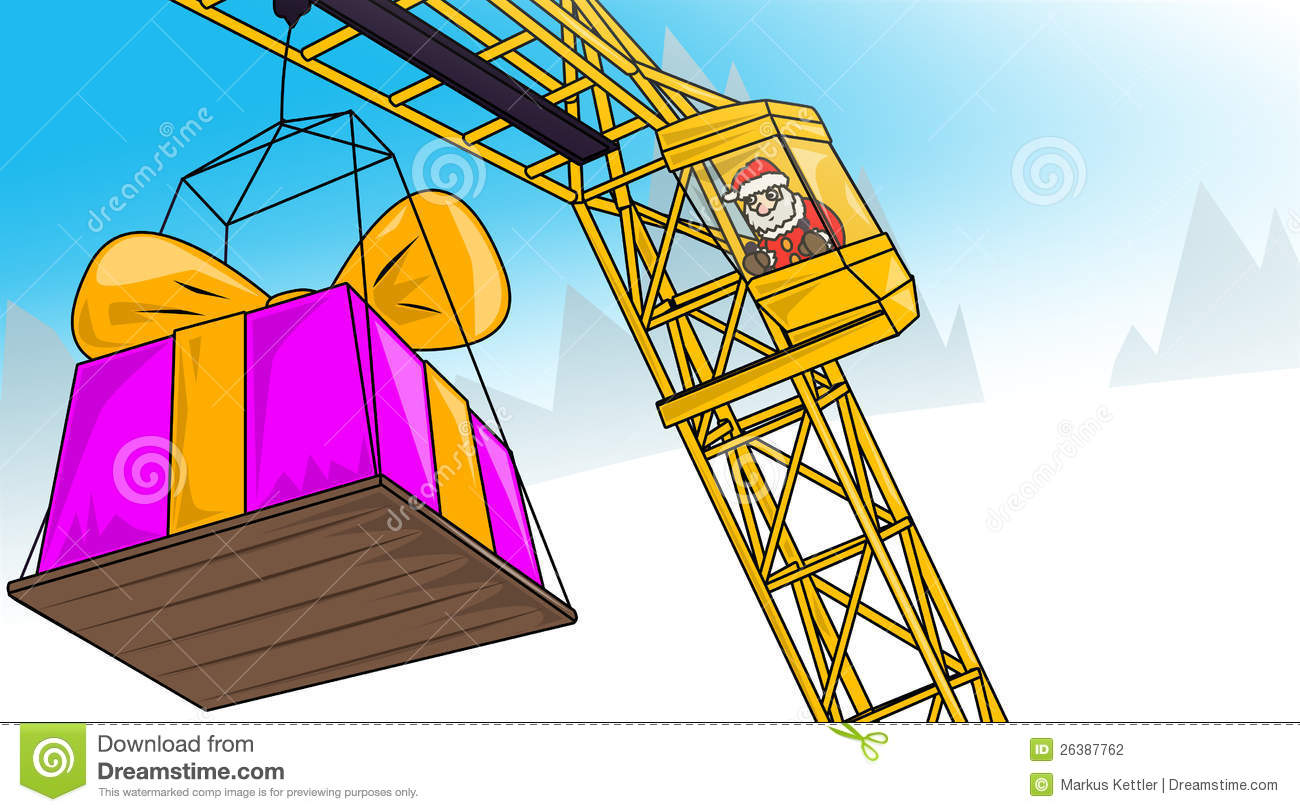 Christmas crane clipart free.