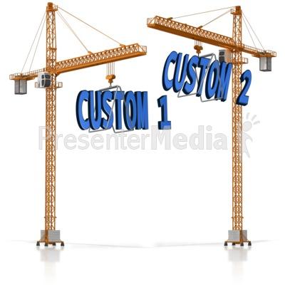 Custom Text On Crane.