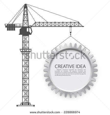 Tower Crane Stock Images, Royalty.
