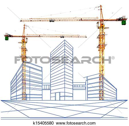 Stock Photography of two point perspective of building c k15405580.